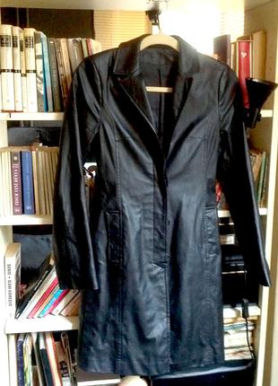 uzun suni deri ceket