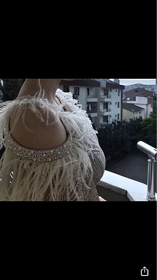 Gümüş Nişan Elbisesi
