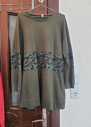 Defacto haki sweatshirt