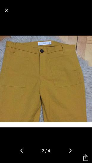 Sarı kumaş pantolon