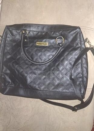 Tupperware deri kol çantası