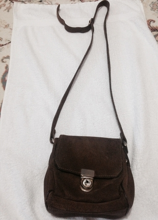 Kahverengi küçük güderi çanta