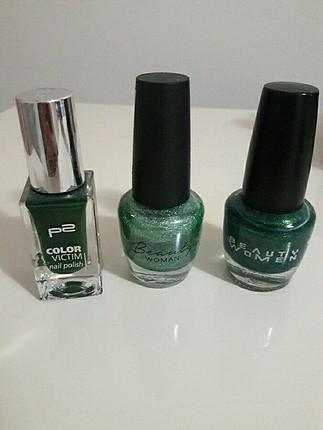 Yeşil Renk tonu Oje