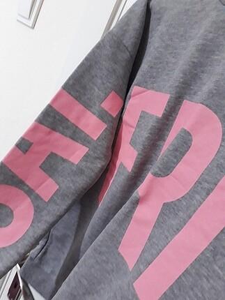 s Beden gri Renk Defacto baskılı sweatshirt