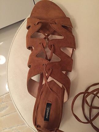 40 Beden kahve Renk Dize kadar bağcıklı sandalet