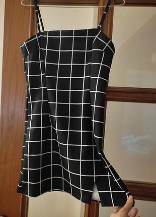 Siyah mini elbise köstebek YENİ