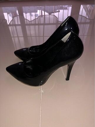 38 Beden Bambi siyah stiletto ayakkabı