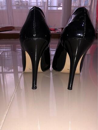 38 Beden siyah Renk Bambi siyah stiletto ayakkabı