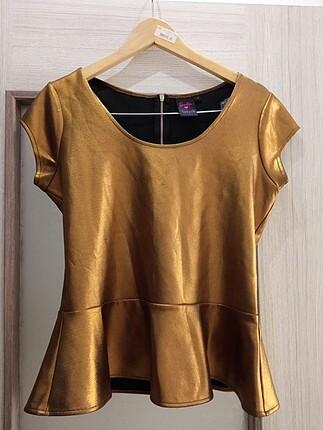 Barbie splash gold kadın bluz