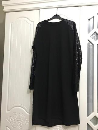 Siyah paletli elbise tunik