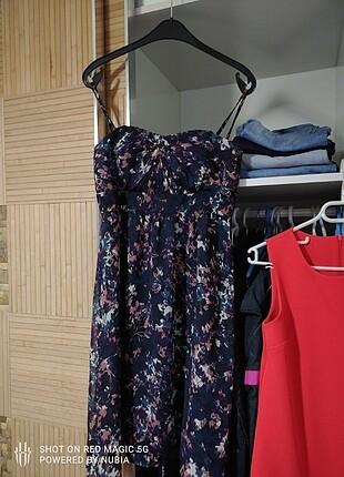 Esprit çok renkli ve nar çiçeği Trendyol elbiseler