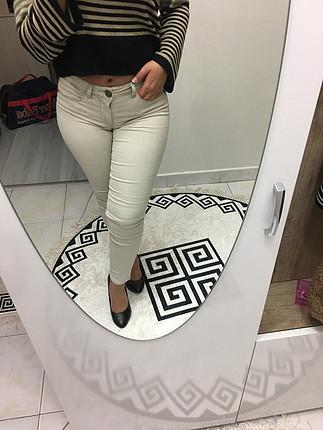 Krem rengi pantolon
