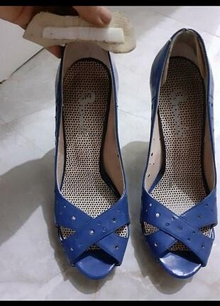 Saks mavi bambi ayakkabı