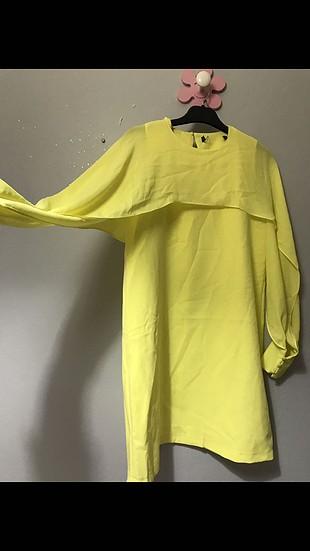 Sarı elbise şifon