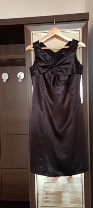 Siyah Saten Elbise ????