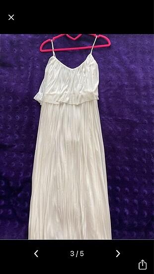 s Beden Mango beyaz elbise