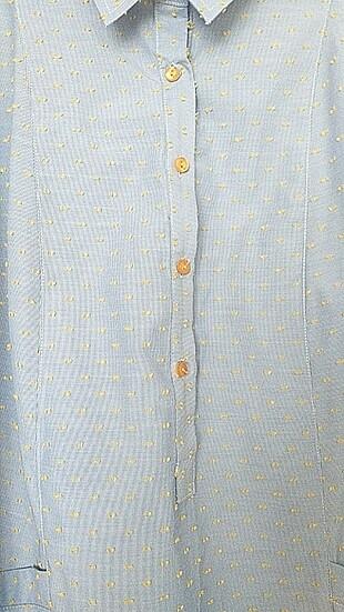 38 Beden mavi Renk Tunik Gömlek