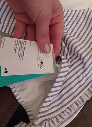 38 Beden mavi Renk H&M marka 38 beden bikini takımı etiketli