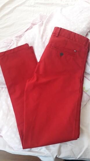 Tommy Hilfiger erkek kırmızı pantalon