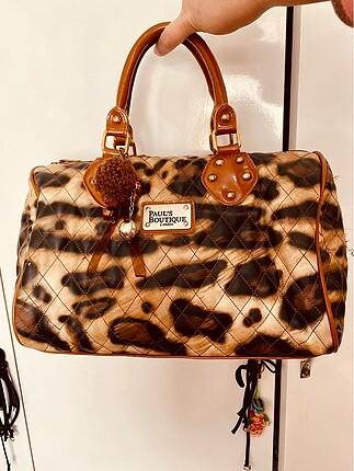 Leopar Desen kol çantası