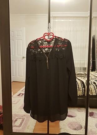 Ekol transparan siyah gömlek