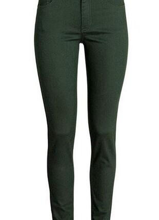 koyu yeşil skinny pantolon
