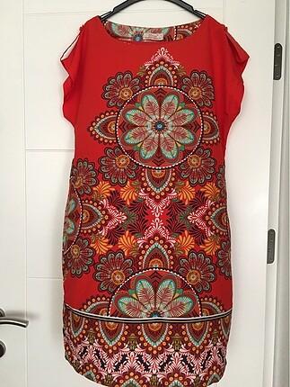 Mini keten yazlık elbise