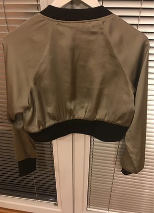 s Beden haki Renk Saten tipi kısa ceket