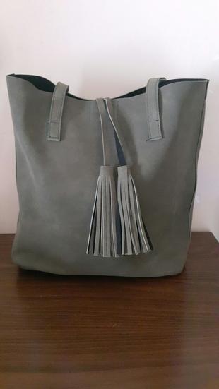 yeni süet çanta