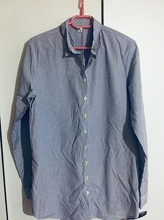 Çizgili Sıfır gömlek tunik