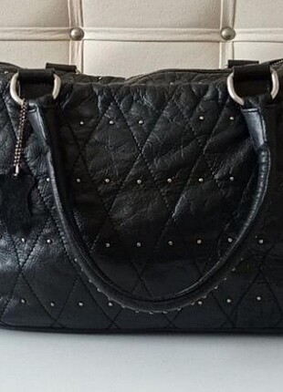 Derimod hakiki deri siyah çanta