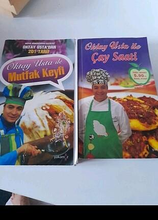 2 adet Oktay ustadan yemek kitabı