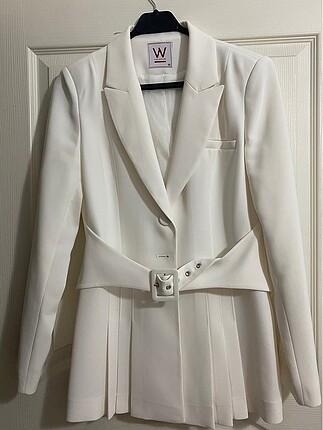 W collection beyaz blazer