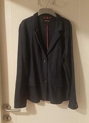 Büyük beden penye blazer ceket