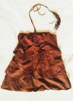 Kahverengi bluz