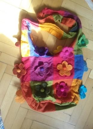 Çiçekli Hippi çanta