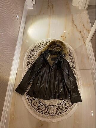Asrın deri kürklü mont ceket
