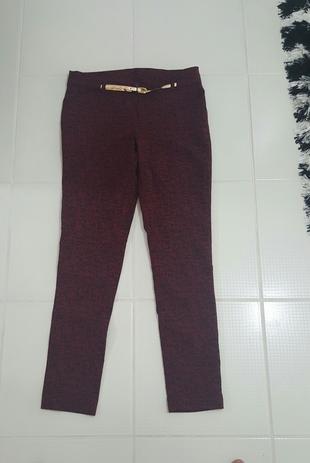 bordo kumaş pantolon