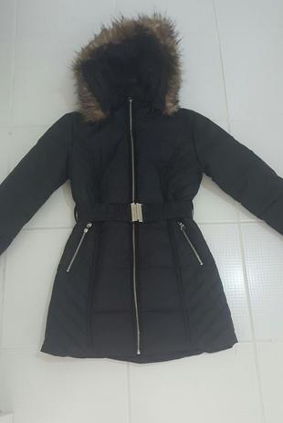 siyah uzun mont