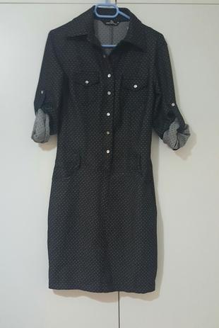 siyah kot elbise