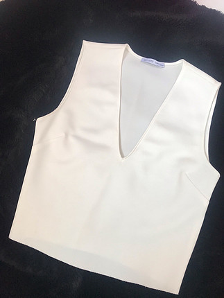 Zara Zara beyaz v yaka bluz