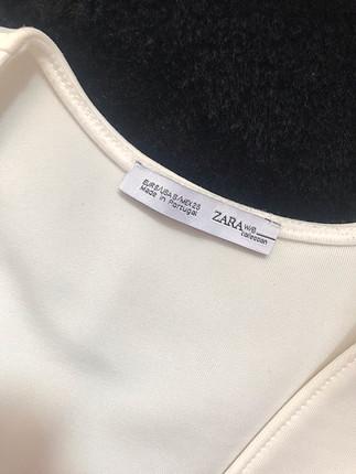 s Beden Zara beyaz v yaka bluz