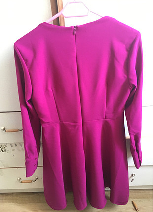 Trendyol kokteyl elbisesi Fuşya rengi mükemmel kalitede