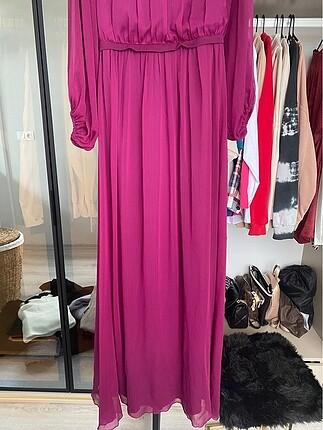 36 Beden mor Renk Elbise