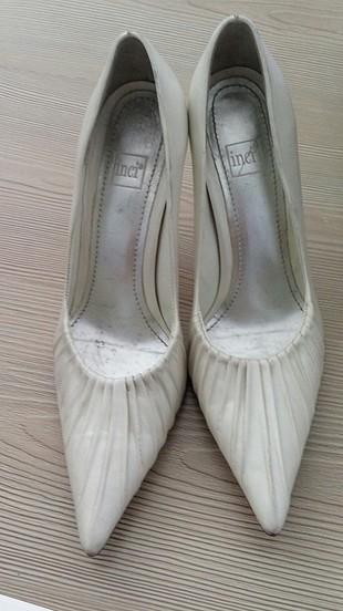 inci inci marka kırık beyaz ayakkabı
