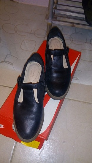 clarks marka siyah ayakkabı