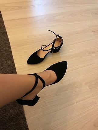38 Beden siyah Renk klasik topuklu