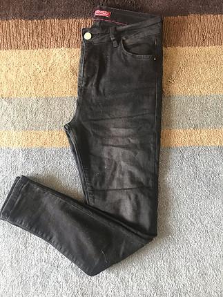 Siyah Yüksek Bel Jean Kot Pantolon