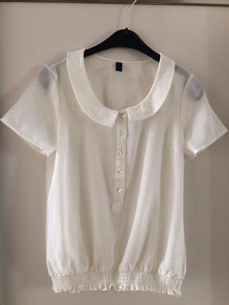 Kırık beyaz bluz