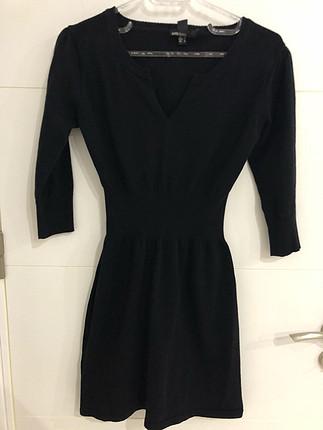 Mango siyah triko elbise